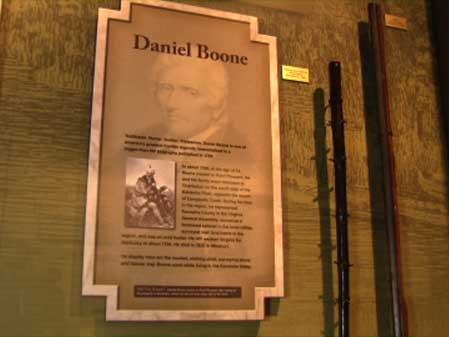 Daniel Boone Exhibit at State Musuem