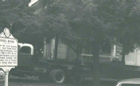 The house was moved in three sections to Daniel Boone Park