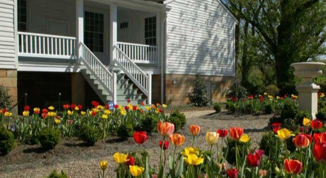 Springtime in the garden at the Craik-Patton House